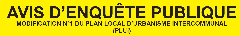 Enquête publique : modification PLUi